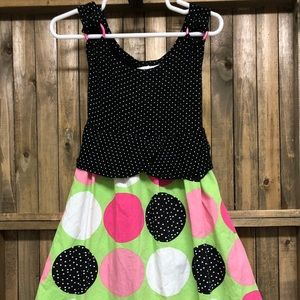 Bonnie Jean vest-style top sleeveless polka dotted